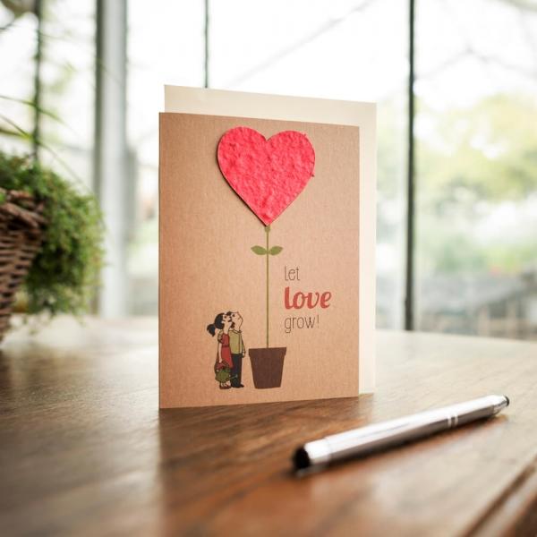 Let love grow! Liebe Hochzeit Klappkarte Die Stadtgärtner