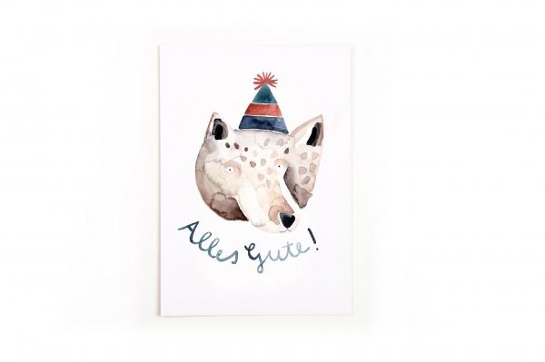 Gretas Schwester Postkarte Alles Gute Geburtstag