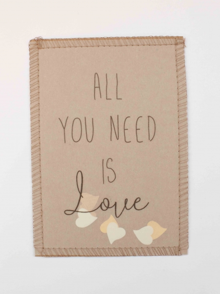 statement Postkarte All you need is Love Liebe