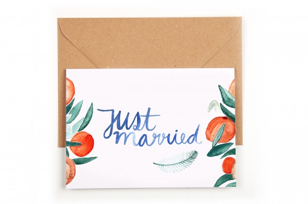 Gretas Schwester Just Married Orangenblüten