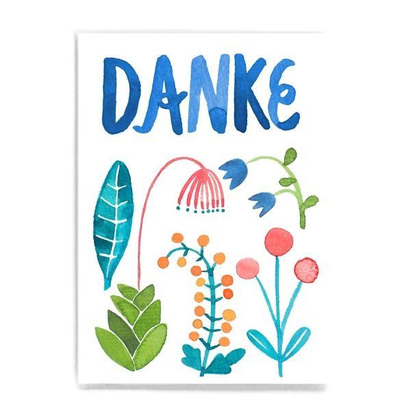Frau Ottilie Postkarte Danke