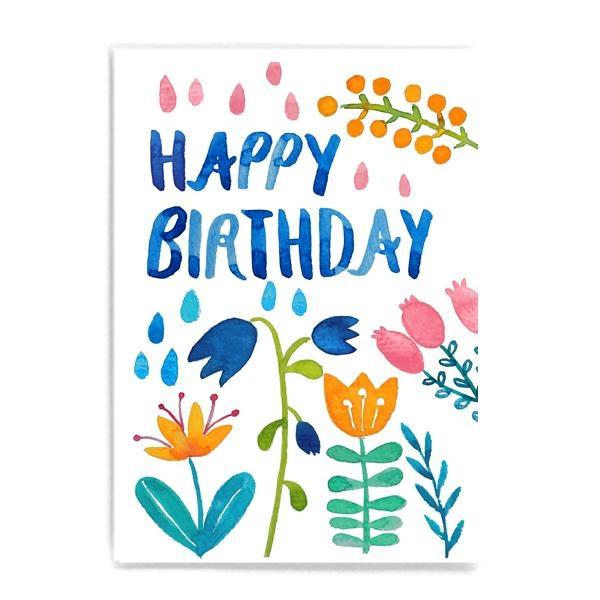 Frau Ottilie Postkarte Happy Birthday Geburtstag